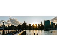 New York City Skyline - Sunset - Gantry Plaza Photographic Print