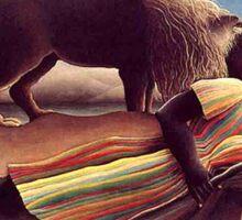 Henri Rousseau - Sleeping Gypsy Sticker