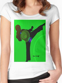 Just kicked in Women's Fitted Scoop T-Shirt