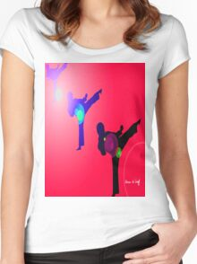 Just kicked in 2 Women's Fitted Scoop T-Shirt