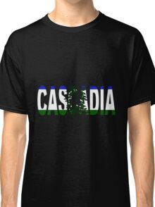 Cascadia, Flag in Letters Classic T-Shirt