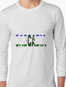Cascadia, Flag in Letters Long Sleeve T-Shirt