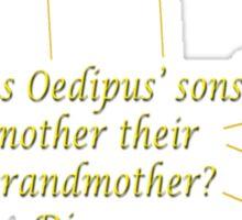 Oedipus Sticker