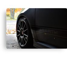 Warming Up the Abarth Canvas Print