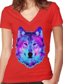 digital Disco Women's Fitted V-Neck T-Shirt