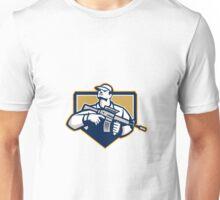 Soldier Military Serviceman Assault Rifle Retro Unisex T-Shirt