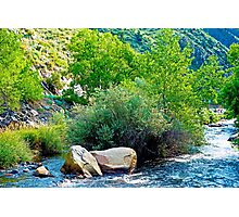 Big Thompson River View Downstream Photographic Print