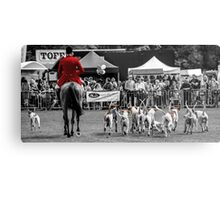 Horse & Hounds Metal Print