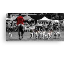 Horse & Hounds Canvas Print