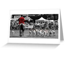Horse & Hounds Greeting Card
