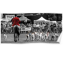 Horse & Hounds Poster