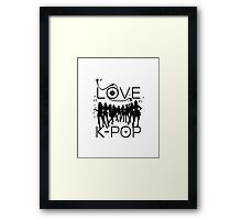 LOVE K-POP MUSIC Framed Print