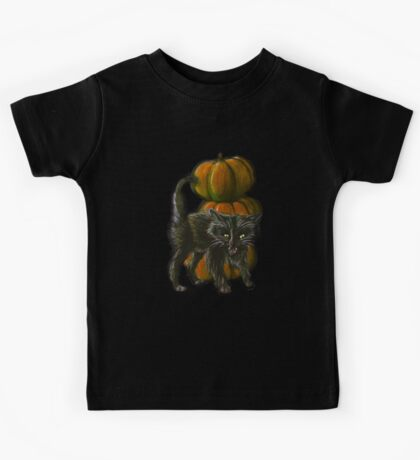 Halloween Black Cat Kids Tee