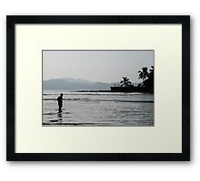 Through Water Framed Print