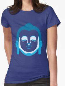 Calming Buddha Womens Fitted T-Shirt