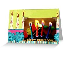 Happy birthday card  - canddles Greeting Card