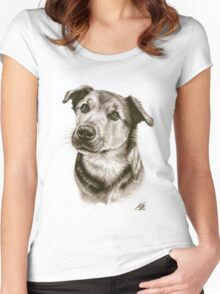 Dogs Eyes Women's Fitted Scoop T-Shirt