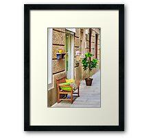 Boutique Entrance Framed Print