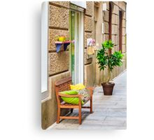 Boutique Entrance Canvas Print