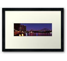 Brisbane Twilight on 100F Film Framed Print
