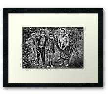 Children of Ma Li Peng, Vn... Framed Print