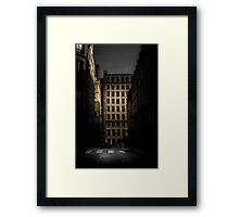 Open window in Paris Framed Print