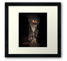 Red cloud in Paris (France) Framed Print