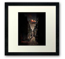 Red cloud in Paris (France) Framed Print