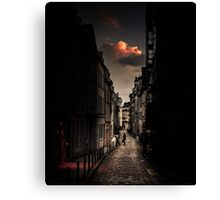 Red cloud in Paris (France) Canvas Print