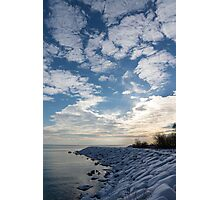 Cirrocumulus Clouds and Sunshine - Lake Ontario, Toronto, Canada Photographic Print