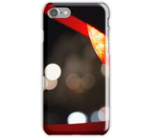 Red Traffic Light in Paris iPhone Case/Skin