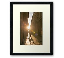Famous fashion shopping street Framed Print