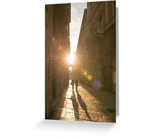 Famous fashion shopping street Greeting Card