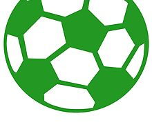 Green Soccer Ball by kwg2200
