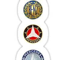 MERCEDES logo evolution Sticker