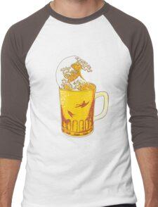 Beer Wave Men's Baseball ¾ T-Shirt