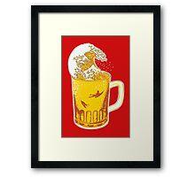 Beer Wave Framed Print