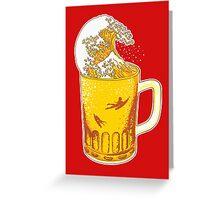 Beer Wave Greeting Card