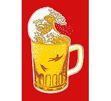 Beer Wave Photographic Print