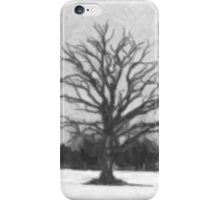 Winter tree - drawing iPhone Case/Skin