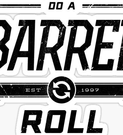 Star Fox 64 - Do A Barrel Roll Official Tee (Black) Sticker