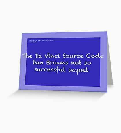 The Da Vinci Source Code Greeting Card