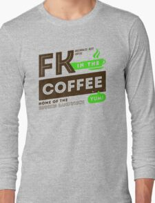 Deadly Premonition - FK In The Coffee Official Tee (Brown / Green) T-Shirt