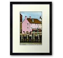 Pink house and crabs Framed Print