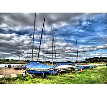 Alnmouth Yachts Photographic Print
