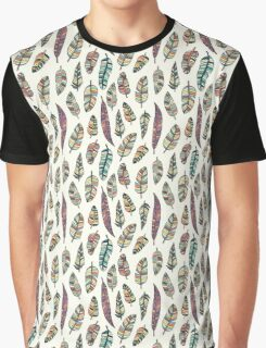 Drawn bird feathers seamless pattern Graphic T-Shirt