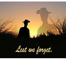Lest we forget, rememberance day. Photographic Print