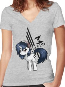 Vinyl Scratch Women's Fitted V-Neck T-Shirt