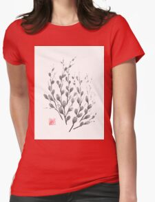 Gentle promise sumi-e painting Womens Fitted T-Shirt