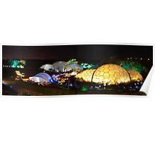 Eden project at night Poster